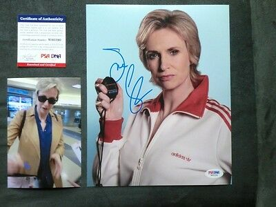 Jane Lynch Hot! signed autographed Glee 8x10 photo PSA/DNA coa cert PROOF!!