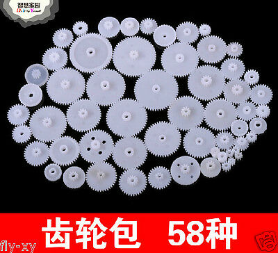 58 Styles Plastic Drive Gear Wheel Accessories Parts For DIY Toy Model-Making