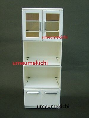 RARE Re-ment dollhouse miniature white cabinet cupboard discontinued