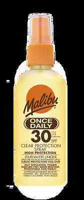 Malibu Once Daily SPF 30 Clear Protection Spray 100ml Sun Lotion