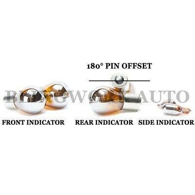 S25 BA15S P21W + T10 W5W Silver Chrome INDICATOR SIGNAL AMBER LIGHT BULB PACKAGE