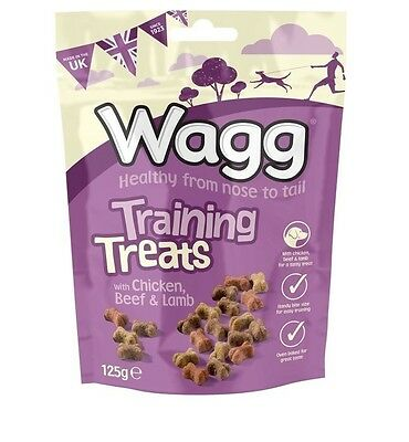 WAGG PUPPY Dog Training Treats 125g Chicken Beef Lamb Oven Baked