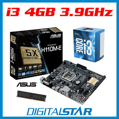 Intel Core i3-7100 CPU + ASUS Motherboard + 4GB DDR4 RAM Desktop PC Upgrade Kit