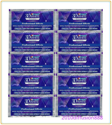 Crest 3D White Professional Whitening Effects Whitestrips (10 pouches/20 strips)