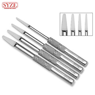 Dental Bone Spreading 'D' Shaped Spreader Implant Placing Osteotome 4 Pcs Kit