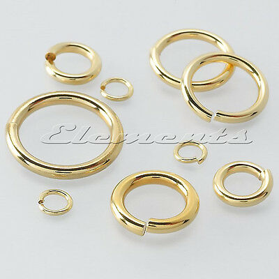 Solid 9 Ct Yellow Gold  8 Mm Strong Jump Ring Open Link Heavy Or Light
