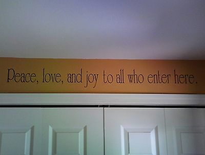 Peace Love and Joy... Wall Decal removable sticker decor quote words spiritual