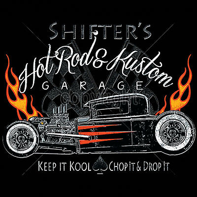 d2804f12468 Cool Hot Rod T Shirts Rat Rods Flames Whitewalls Retro Jalopy S to 6XL and  Tall