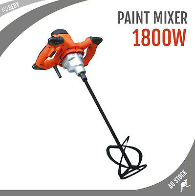 1600W Mortar Mixer Cement Render Paint Concrete Glue Plaster Rotary Drill Shaft