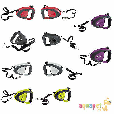 Ferplast Flippy Tech Retractable Dog Leads Tape Cord 5 colours 3 Sizes