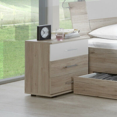 neu jugendzimmer nachtschrank wei eiche s gerau kommode nachttisch nachtkommode. Black Bedroom Furniture Sets. Home Design Ideas