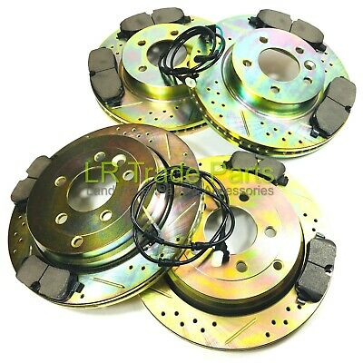 Land Rover Discovery 3 Tdv6 Front & Rear Performance Brake Discs, Pads Kit Set
