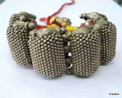 Vintage antique collectible tribal old silver cuff bracelet bangle india
