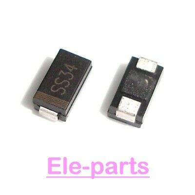 100 PCS SS34 DO-214AC SMA 1N5822 SMD Schottky Barrier Diode