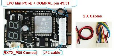 COMPAL Laptop Analyzer Tester Diagnostic Post Test Card