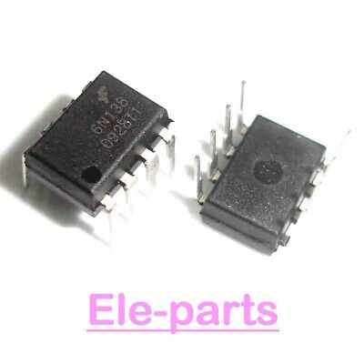5 PCS 6N138 DIP-8 High Speed OPIC Photocoupler