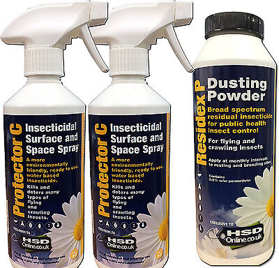 Medium Bed Bug Spray Treatment Powder Killer House Room Kill Bedbugs Control Kit