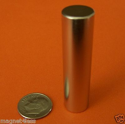 2 Pieces of Grade N48 1/2x2 Inch Rare Earth Neodymium Cylinder Magnet