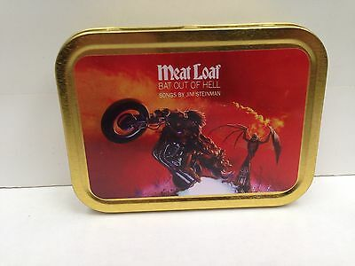 Meat Loaf Classic Rock Music Bat Out Of Hell Cigarette Tobacco Storage 2oz Tin