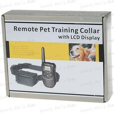 LCD 100LV Remote Pet Dog Training Electric Shock Vibration Collar For 10-130lb