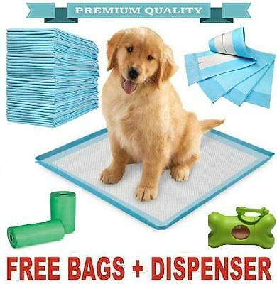 Large & Xl Puppy Dog/cat Trainer Training Pee Wee Pads Mats 60 X 45 Or 60 X90Cm