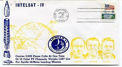 1971 Intelsat-IV Apollo 14 Shepard Roosa Mitchell Cape Canaveral Orbit Covers