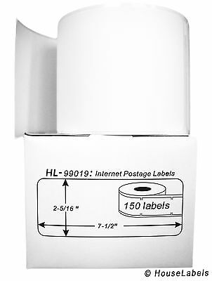 25 Rolls of 150 1-Part Ebay PayPal Postage Labels for DYMO® LabelWriters® 99019