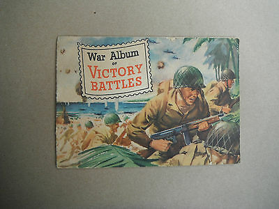 WW2 US home front War Album of Victory Battles 1945 edition by General Mills