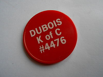 Cool Vintage DuBois IL K of C Knights of Columbus 4476 Trade Token Coin