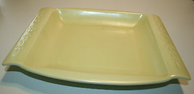 Yellow & Blue / Green Red Wing Console Bowl Rectangular Platter 1041 Vintage