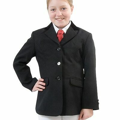 Brand New Hobart Show Jacket Plain or Silver Buttons Black Navy Child Riding