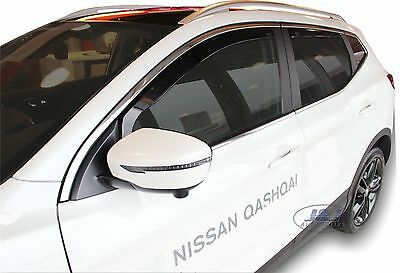 DNI24286 Nissan QASHQAI mk2  J11 2014 -2018 wind deflectors 4pc set TINTED HEKO