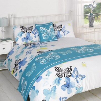 Polilla Blue Quilt Bed in a Bag set Single Double King Size Super King Size