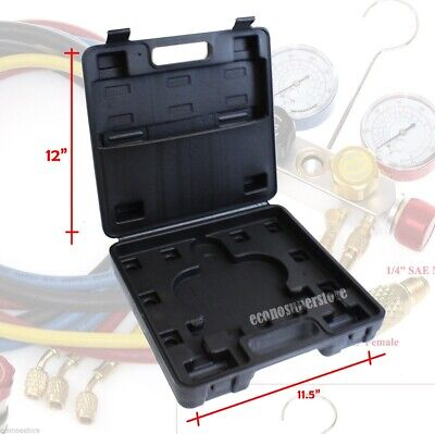 Carrying Case For 4 Way  R410a R22 R134a AC Manifold Gauge Kit Case Only