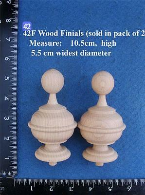 Pair of Clock / furniture Finials Style 42F