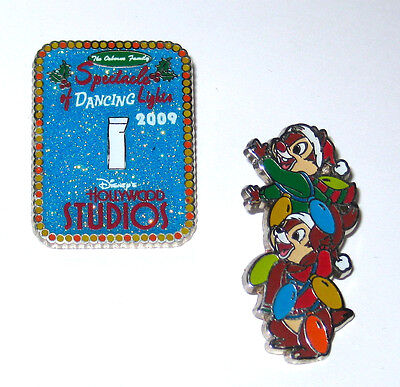 LE Disney Pin Chip Dale Santa Hat Spectacle of Lights Switch Christmas Holiday