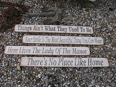 Shabby Chic Good Old Vintage Looking  Wooden Signs Home Interior