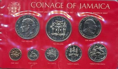 Jamaica, Commonwealth, Elizabeth II , 1975 8 Coin Specimen Set
