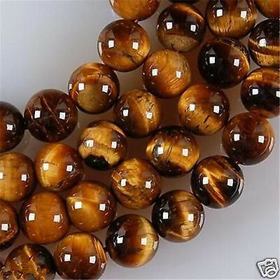 """4-12mm African Roar Tiger's Eye Round Loose Beads 15"""""""