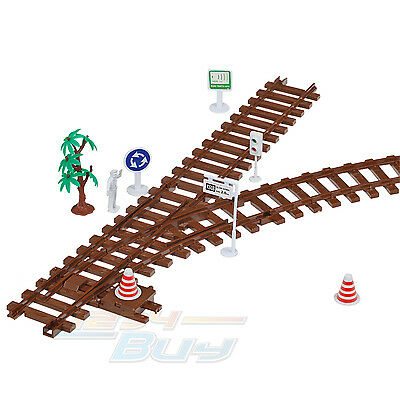 New G Scale Garden Trian Indoor Outdoor Brown Plastic 45MM Track with 21 Figures