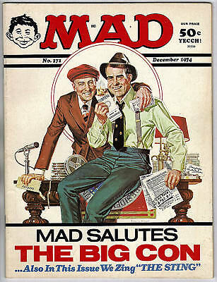 MAD MAGAZINE #171 - THE STING SPOOF & COVER - 1974