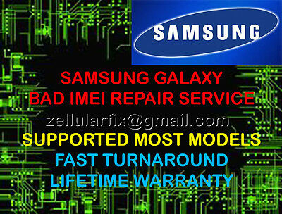 SAMSUNG LG HTC BAD IMEI / ESN BLACKLIST REPAIR FIX SERVICE -MAIL IN SERVICE ONLY