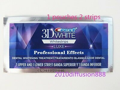 **3D Crest* Professional Effects Luxe Whitening Whitestrips *1 Pouches 2 Strips*