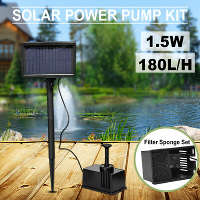 Solar Pump Pond Submersible Water Fountain 180L/H 3m with Filtering Sponge  AU06