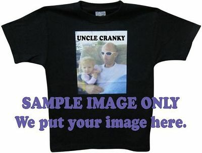 Customised / Personalised kids t shirt with your full colour image 100%cotton