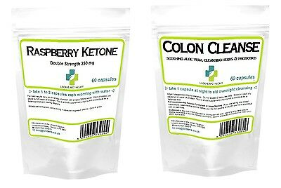 Raspberry Ketones Colon Cleanse 120 pills 30 day weight loss / diet Lindens