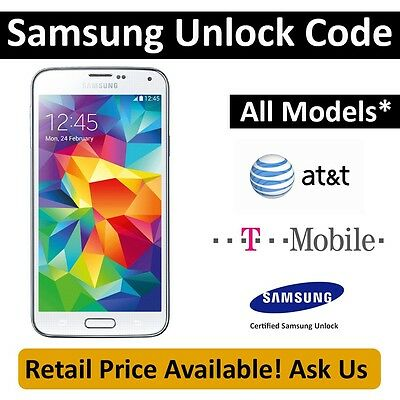 Factory Unlock Code for Samsung Galaxy S5 - AT&T / T-Mobile - S5 / Note 3 FAST