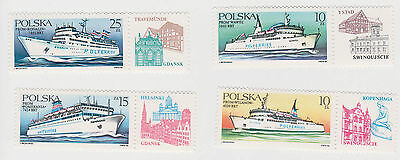 (T6-79) 1986 Poland set of4 passengers ferries