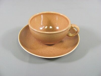 Iroquois Pottery CASUAL-APRICOT Russel Wright Cup & Saucer Set(s)