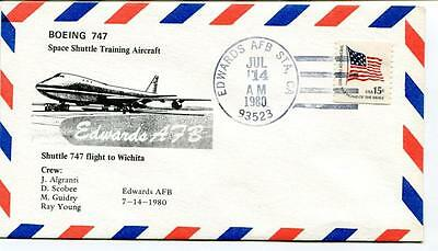 1980 Boeing 747 Space Shuttle Training Aircraft Flight Whicita Edwards AFS USA
